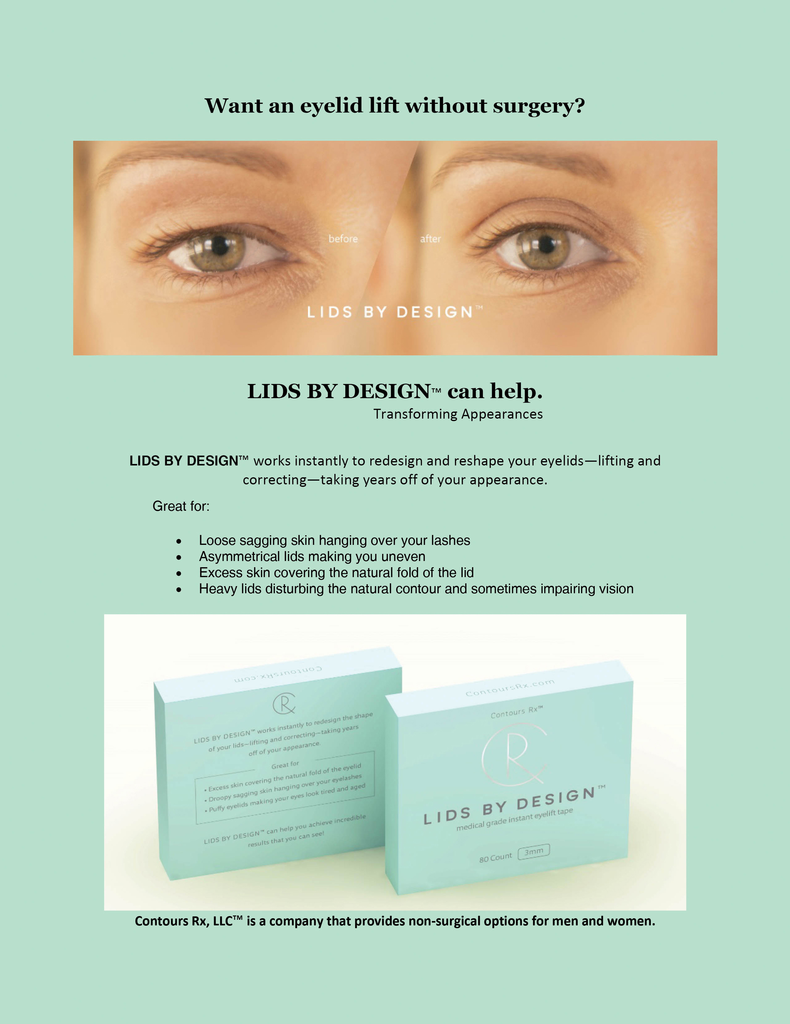 Finally A New Eyelid Product Hits The Market Lids By Design By