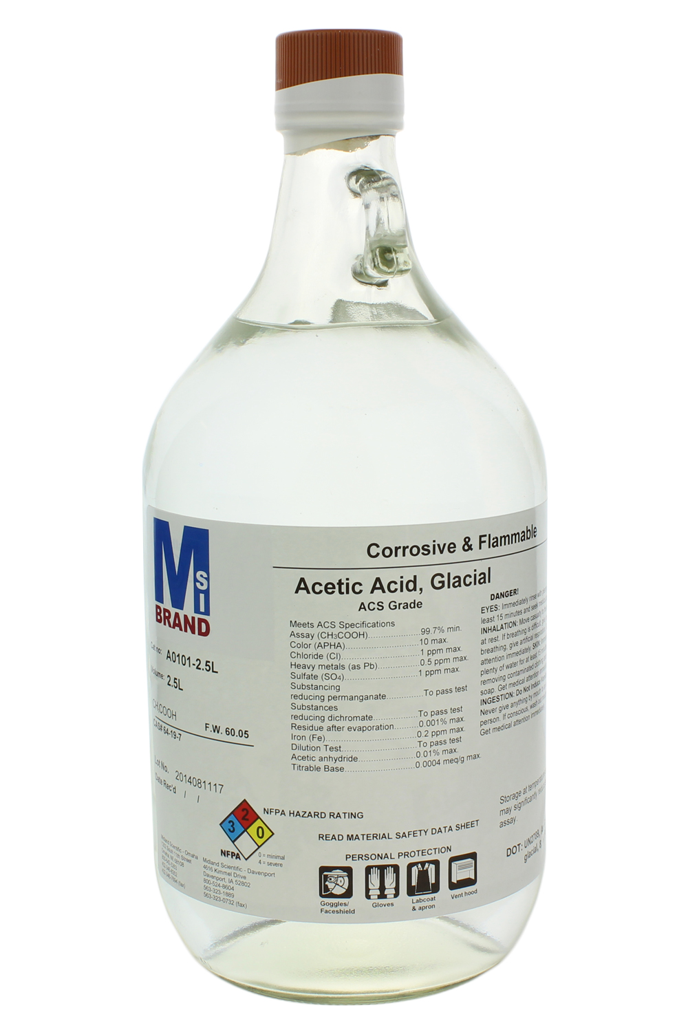 new line of msds chemicals added to msi u0026 39 s inventory of lab