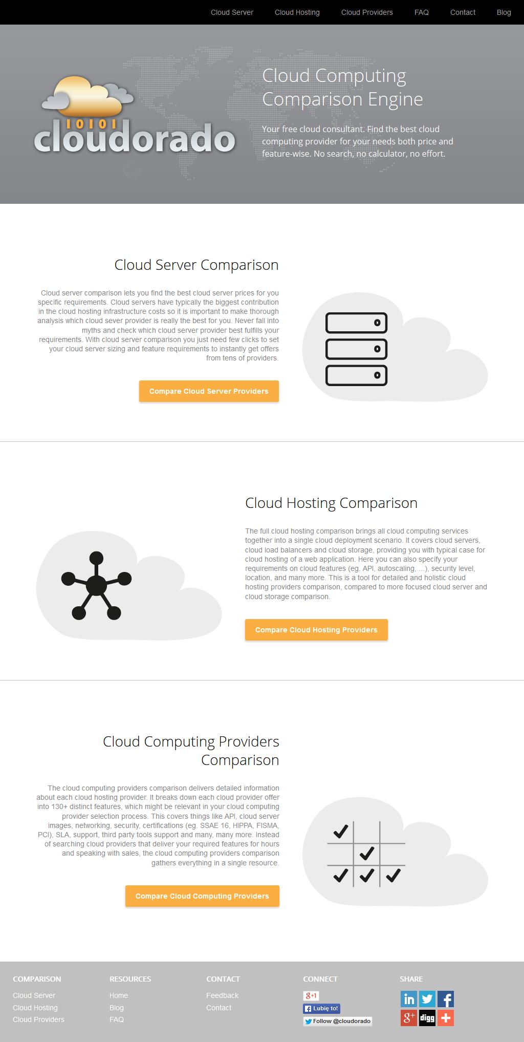 Cloudorado Launches New Cloud Computing Comparison Service