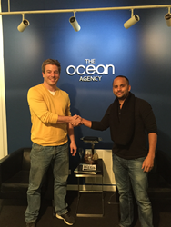 Chris O'Neill, CEO of Logical Media Group (left) and Marvin Russell, Founder of The Ocean Agency