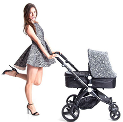 Custom design your stroller with your favorite pattern and fabric.