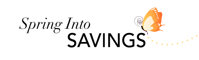 Image result for spring into savings