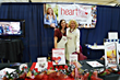 Hearfeld Ministries booth of Dr. Joneal Kirby a conference for Christian women