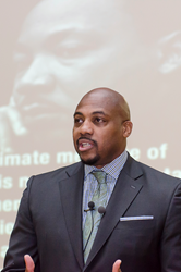 Eric Hutcherson, senior vice president of human resources for the National Basketball Association introduced students at The Hun School of Princeton to 'Brand You' during his presentation, Say Yes to Success. The appearance was part of the School's Centen