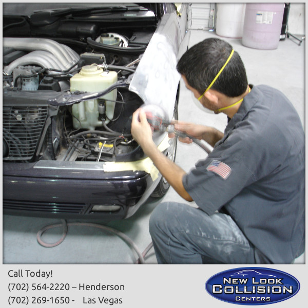 New Look Mechanic Performing Collision RepairMercedes Benz Certified Tier 2  Auto Body Shop In Las Vegas And Henderson, NV