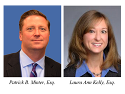 head shots of attorneys Patrick B. Minter and Laura Ann Kelly from Donnelly Minter & Kelly, LLC