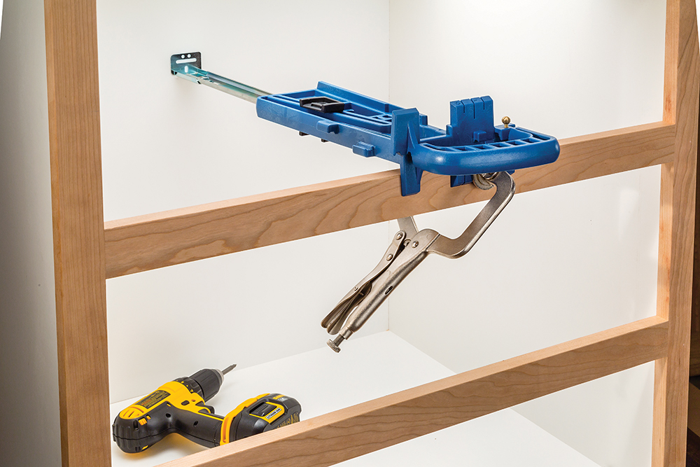 New Rockler Jig Simplifies Drawer Slide Installations
