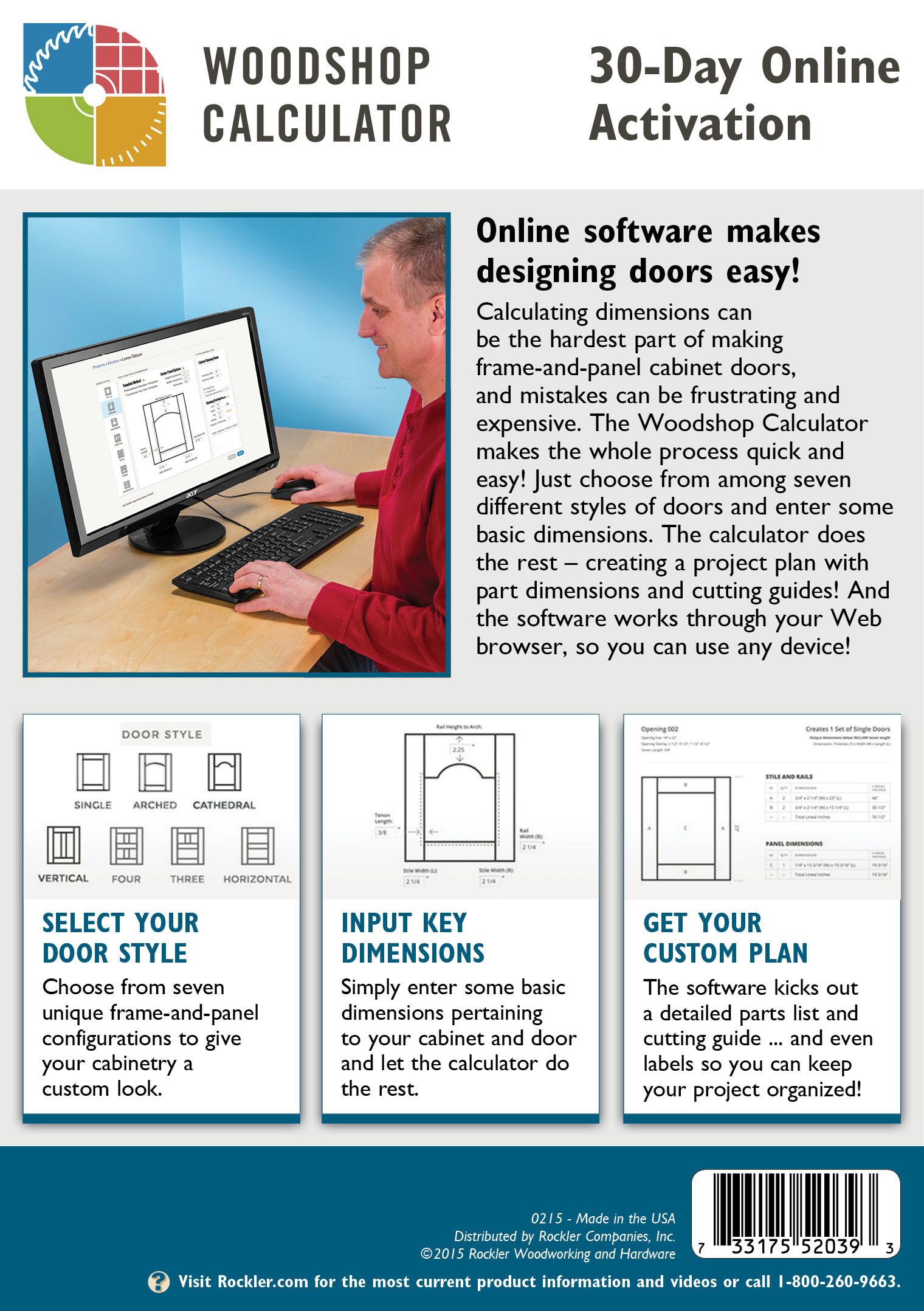 Rockler Launches Web App To Simplify Cabinet Door-Making