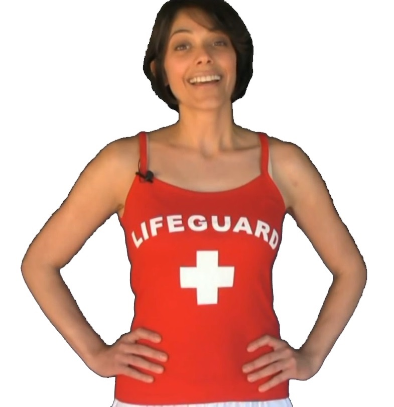 53e8e2bc5ee5b RED WOMEN S LIFEGUARD TANK TOPThis is Paula displaying the red lifeguard  spaghetti strap ...