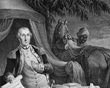 Washington and hi groom by Le Mire (1779)