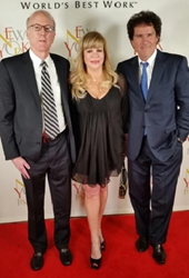 CEO of Cinémoi Rod Sherwood with President of Cinémoi and Co-Executive Producer of the International Fashion Film Awards Daphna Edwards Ziman, and SVP Affiliate Relations Bill Hart