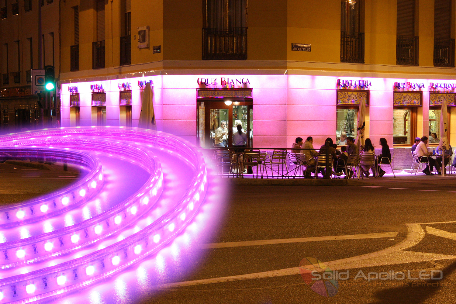 Outdoor restaurant lighting outdoor lighting ideas driverless color changing led strip lightled light over outdoor restaurant led restaurant lighting aloadofball Images