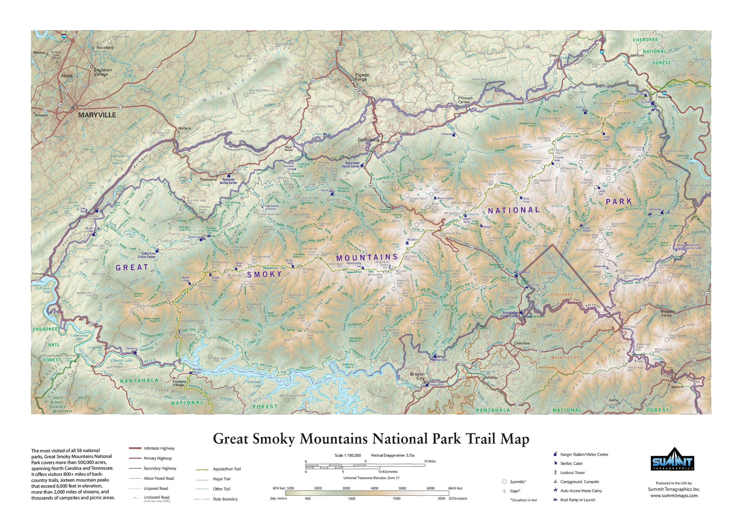 Great Smoky Mountains National Park in Miniature: SummitMaps ...