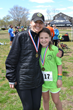 Trumbull's Rose Hopwood, 9, shown here with Betsy Hopwood, took home first place 5k honors in her division.