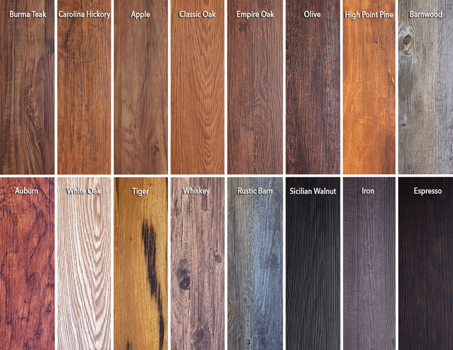 Trident Luxury Vinyl Flooring Swatches