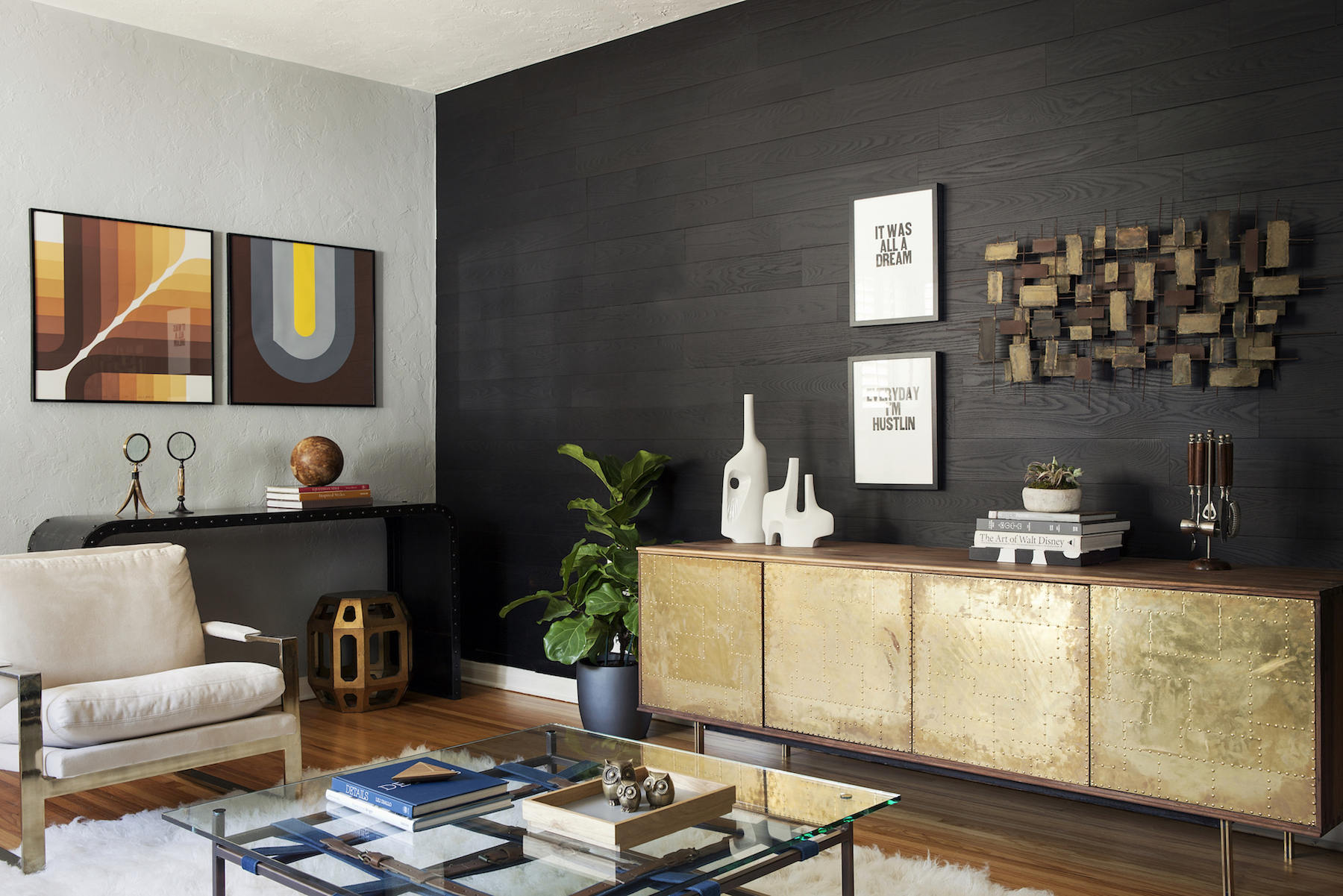 real wood decor stikwood is a peel and stick real wood decor rethink your walls Stikwood launches new Shou-Sugi-Ban inspired woodDesigner Kyle Schuneman  designs room using new Stikwood Charcoal finish.