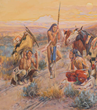 Charles M. Russell, Lewis and Clark Expedition, American Indians, Sid W. Richardson, Buffalo Bill, Fort Worth, Sundance Square, untamed 19th century American West, watercolors