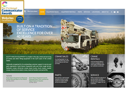 Scott-Macon Equipment website recognized at the 2015 Communicator Awards.
