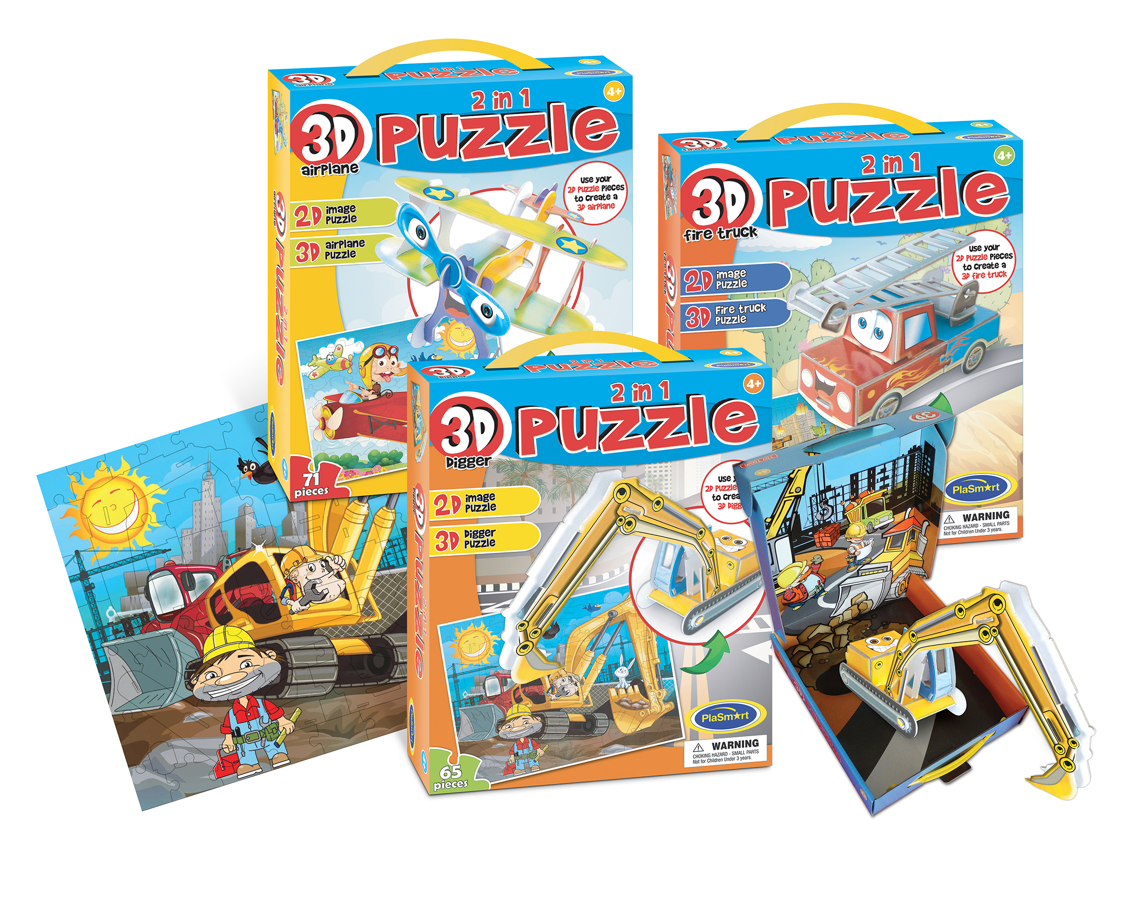 2 In 1 3D Puzzles