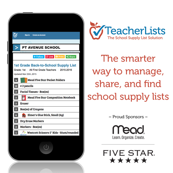 TeacherLists Reveals Price-tag for 2015 Back-to-School