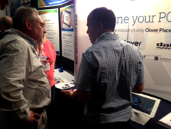Electronic Payments demos their industry-leading POS tablet solution at a regional conference.