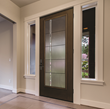 Therma-Tru Fiber-Classic Mahogany Door with Axis glass.