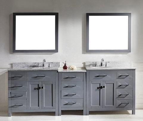 Caroline Parkway 93 Double Bathroom Vanity Set Md 2193 Wmro Gr From Virtu Usa