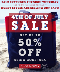 Shop the Outer Style athletic wear and apparel fashion 4th of July sales, the fireworks have been extended to Thursday.