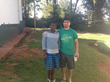 Vector Marketing District Manager Daniel Rivera poses with Selah Kerubo, the Kenyan orphan his district is sponsoring through the Wichita-based program RHope