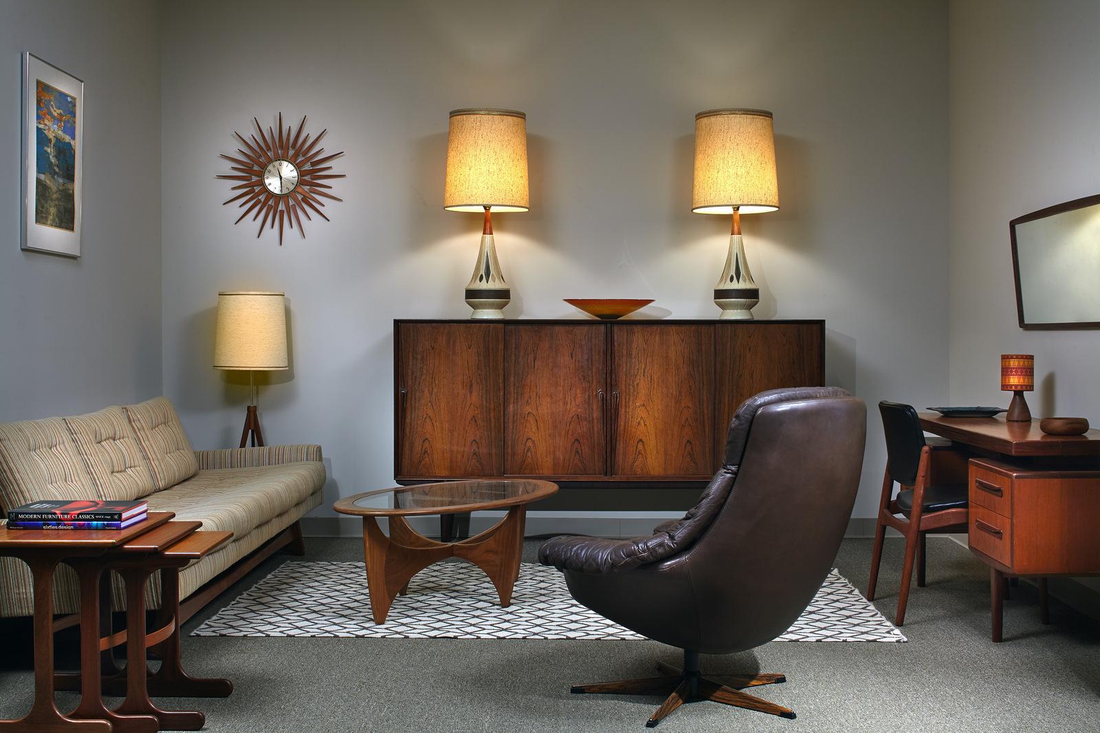 ... Mid Century Furniture Store Atlanta Brazilian Rosewood Credenza By  Gunni Omann. ...