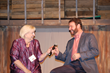From left: Lynne Ruhl and Chuck Proudfit enjoy an AWOP leadership conversation onstage.