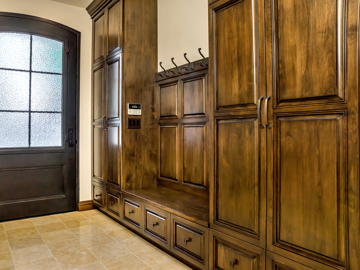Wm. H. Fry Construction Co. Won 1st Place In The Residential Other Category  In The 2015 PureBond® Quality Awards Competition, For An Entryway Cabinet  ...