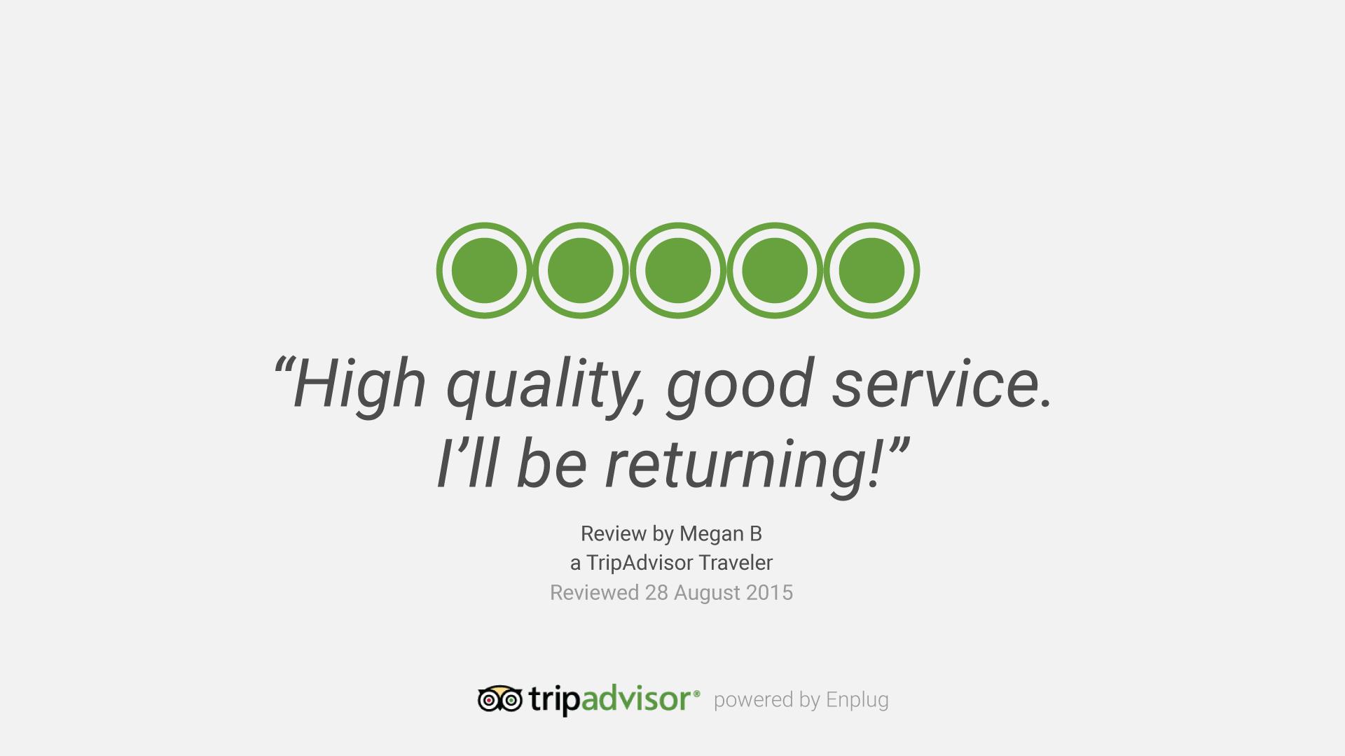 Enplug's new TripAdvisor integration enable hotels and restaurants to stream customer reviews on