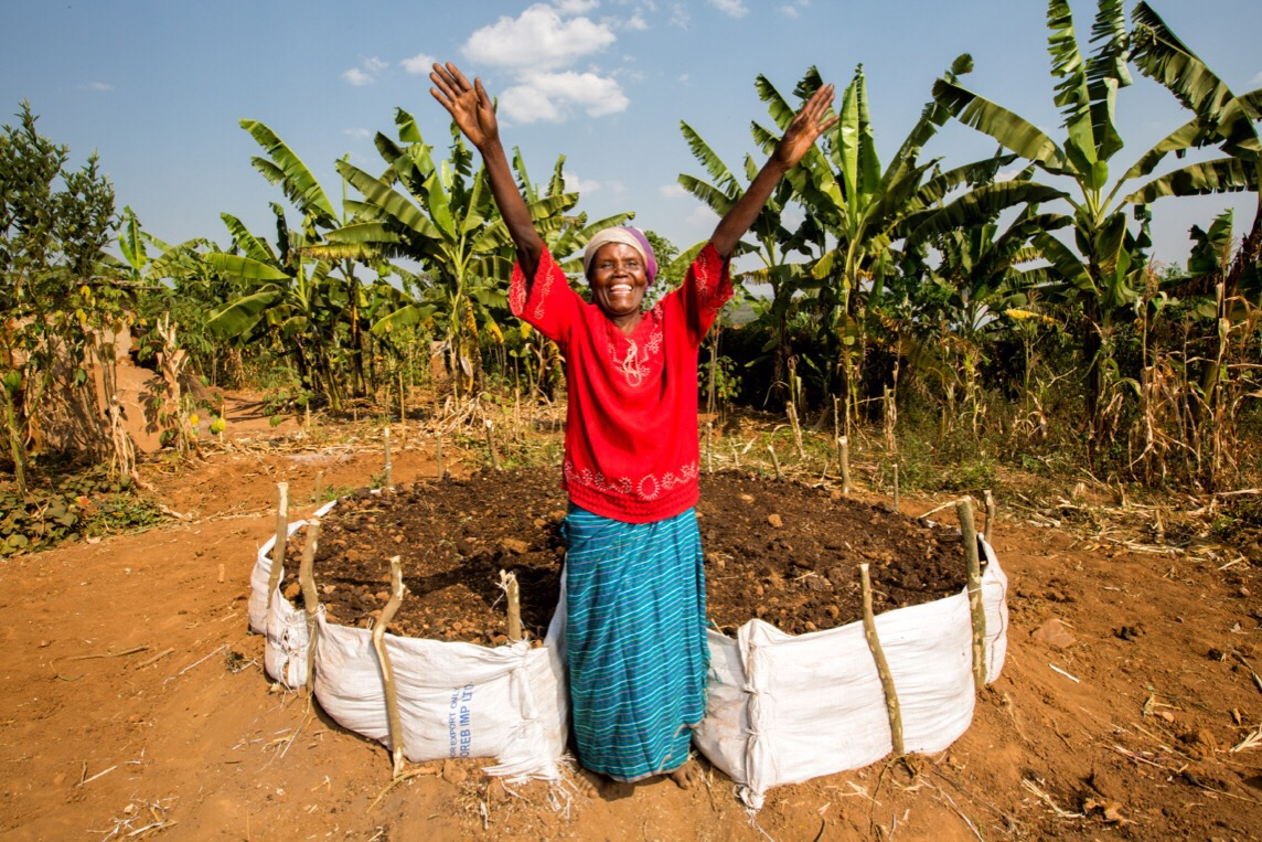 Keyhole Gardens Bring Life to Rwandan Village
