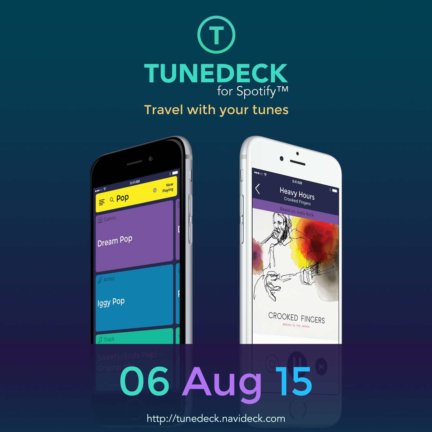 Tunedeck for Spotify Music iOS App Launches to End