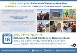 Richmond Climate Action Plan Workshop - August 18th