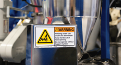 Clarion machine safety label