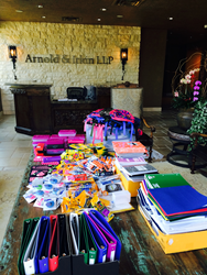 School Supplies at Arnold & Itkin's Office