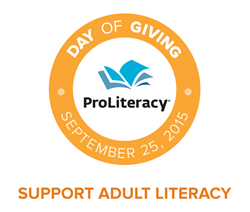 Adult Literacy Day of Giving will take place September 25, 2015.