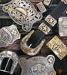 Intricate Western accessories such as these belt buckles by Cayuse Western Americana will be featured at the Jackson, Wyo., Western Design Conference.