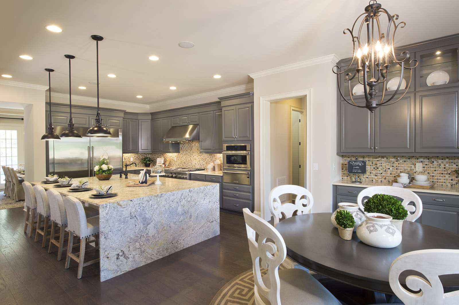 Shea homes opens new luxury model homes in weddington nc for Interior design model homes pictures