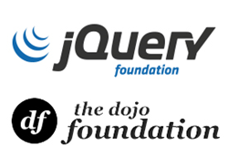 jQuery Foundation logo above Dojo Foundation logo
