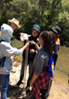 Students learn water testing in California's watershed