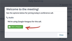 Start a Google Hangout Inside Lucid Meetings