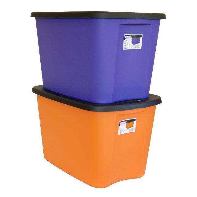 Storage Boxes, Orange Plastic Storage Totes