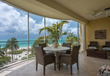 Screened in patios offer amazing views of Grace Bay.