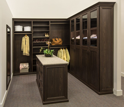 A Walk-in Closet Display at Our Showroom