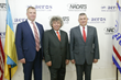 (L-R) Mr. Oleg Gladkovsky, Deputy Secretary of the National Security and Defense Council of Ukraine; Mr. Igor Pasternak, CEO of Aeros;  Colonel General Viktor Nazarenko, Head of the State Border Guard