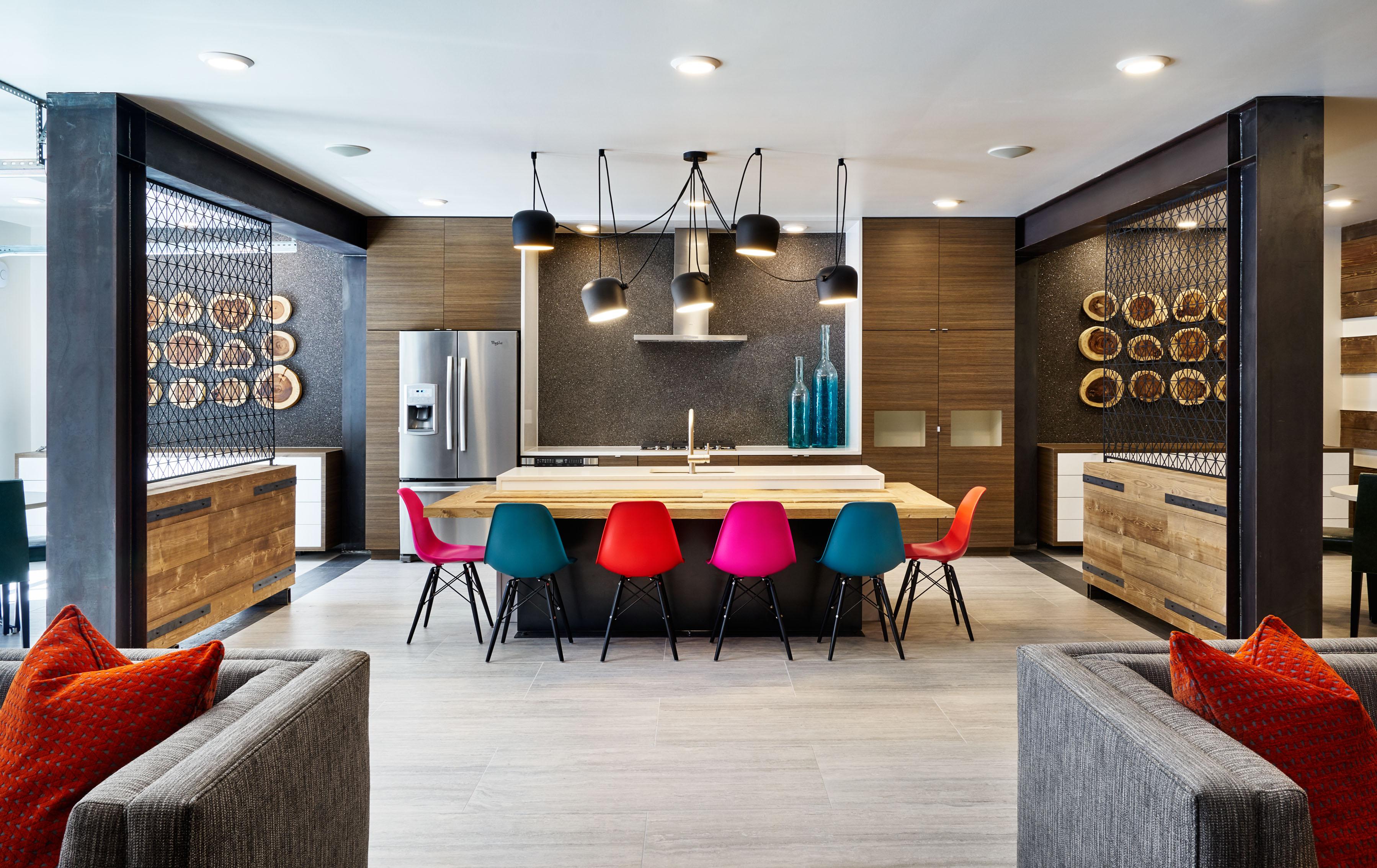 Portland interior design firm uses creative color for Color design hotel