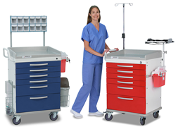 DETECTO Crash Carts for Clinical Mobile Storage